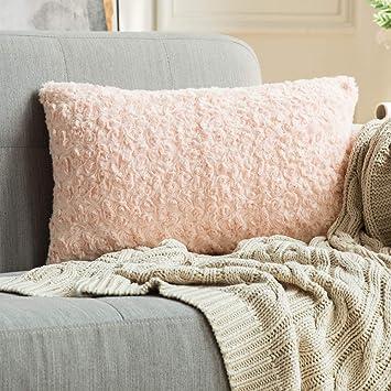 Amazon.com: MIULEE Funda de almohada decorativa de lujo de ...