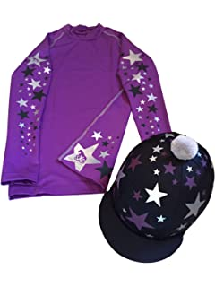 SXC HAT SILK SPOTTY COVER BRITISH EVENTING COLOURS CUSTOM CROSS COUNTRY XC