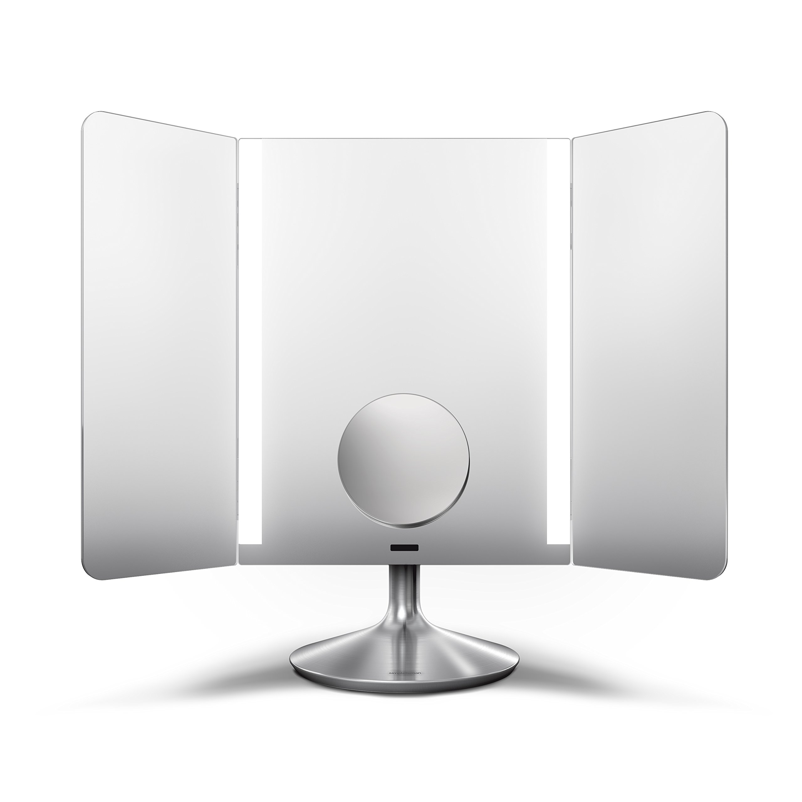simplehuman Sensor Lighted Makeup Vanity Mirror Pro Wide View, 1x + 10x Dual Magnification, Stainless Steel, Rechargeable And Cordless by simplehuman (Image #3)