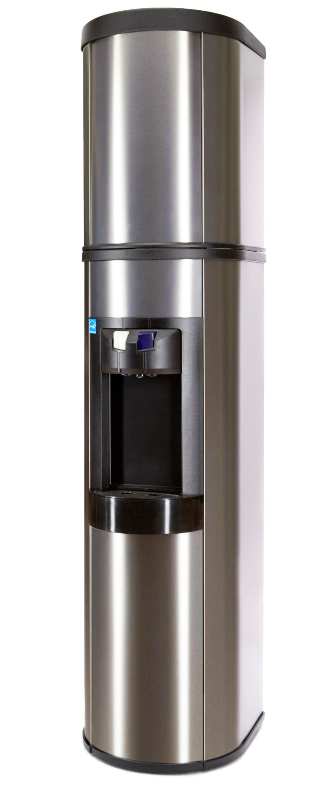 Absolu Stainless Steel Water Cooler, Matching Stainless Cover Hot & Cold - Made in North America by Aquaverve Water Coolers