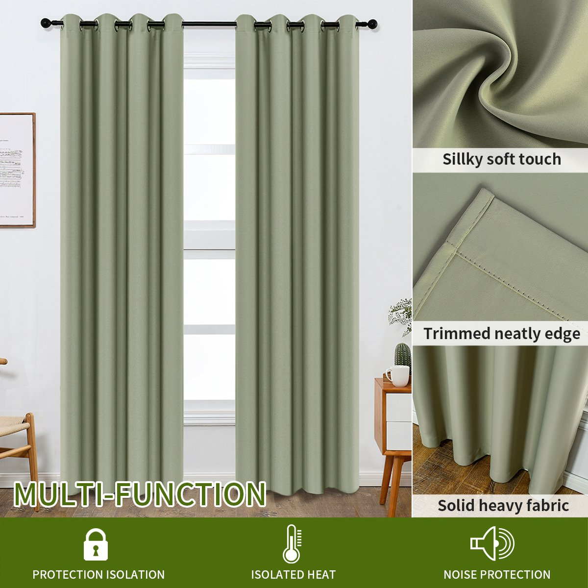 Colokey Shade Insulation Curtain for Bedroom Living Room Balcony Curtain,Peach Pink,52x84-inch,1 Panel