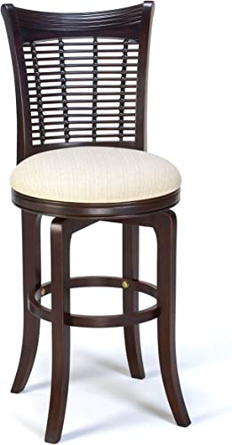 Hillsdale Furniture Bayberry Bar stool, WHITE OFF WHITE WOVEN FABRIC