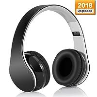 Bluetooth Kopfhörer, Wireless Bluetooth 4.1 Stereo Kopfhörer Dynamisch Geschlossen, Over-Ear High-Fidelity Sport Mp3-Player mit 3,5 mm Buchse und Mikrofon-Rauschunterdrückung für IPhone, Android, PC und andere Bluetooth-Geräte