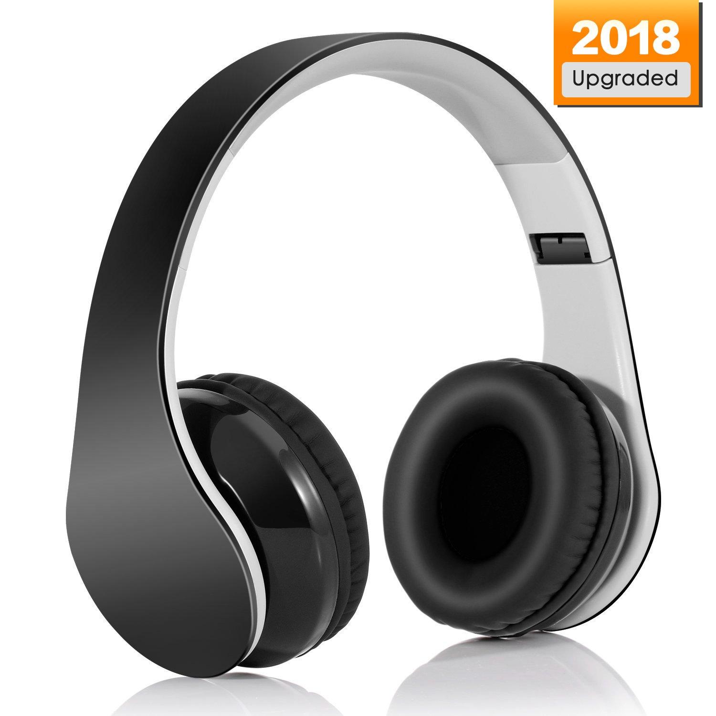 Cuffie Bluetooth 4.1 Headphones Wireless Pieghevole - Audio Stereo Hi-fi  Microfono Incorporato con Jack 924794c31d61