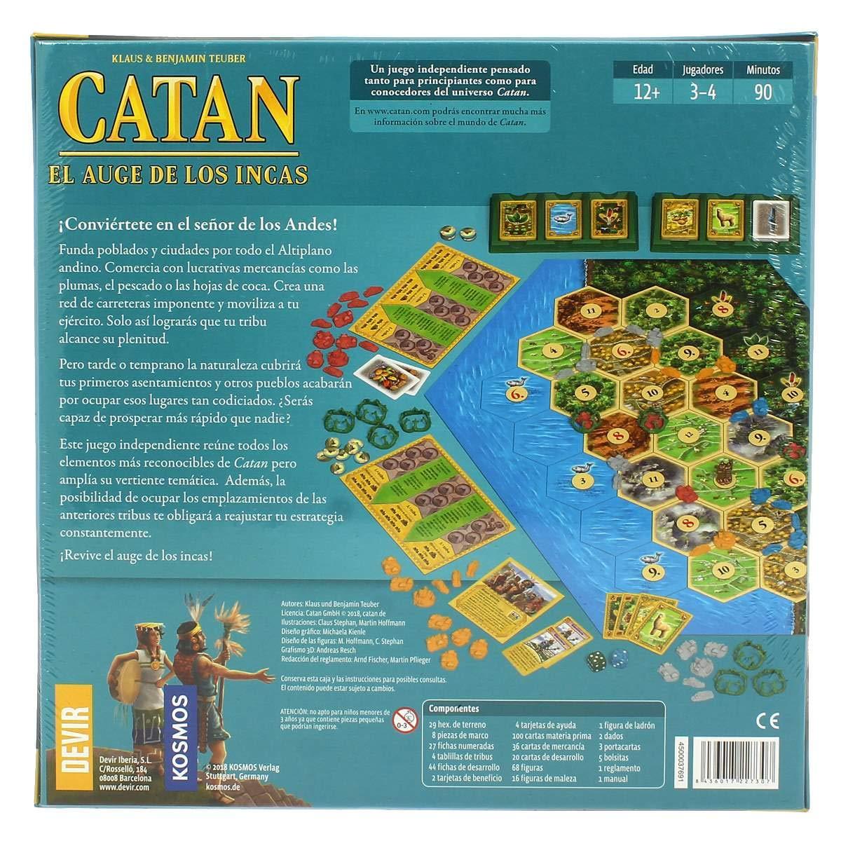 Devir Iberia- 227307 Catan el Auge de Los Incas