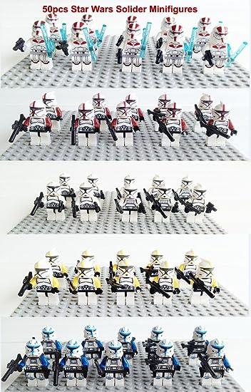 Amazon.com: 50pcs/lot sy195 Star Wars Clone Trooper Capitán ...