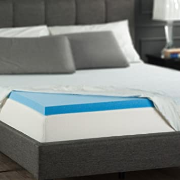 zinus 2 inch gel memory foam mattress topper queen