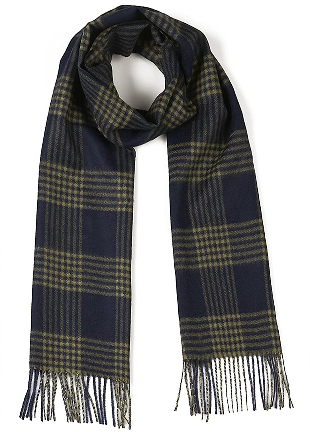 Cross Hatch Plaid Scarf 100% Pure Baby Alpaca - Unequaled Luxury for Men & Women