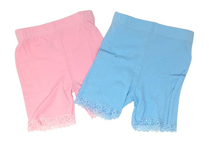 d7cb051dfe7 Toddler and Big Girls Dance Undershorts Bike Short Cartwheel Panties with  Lace Trim - 2 Pack