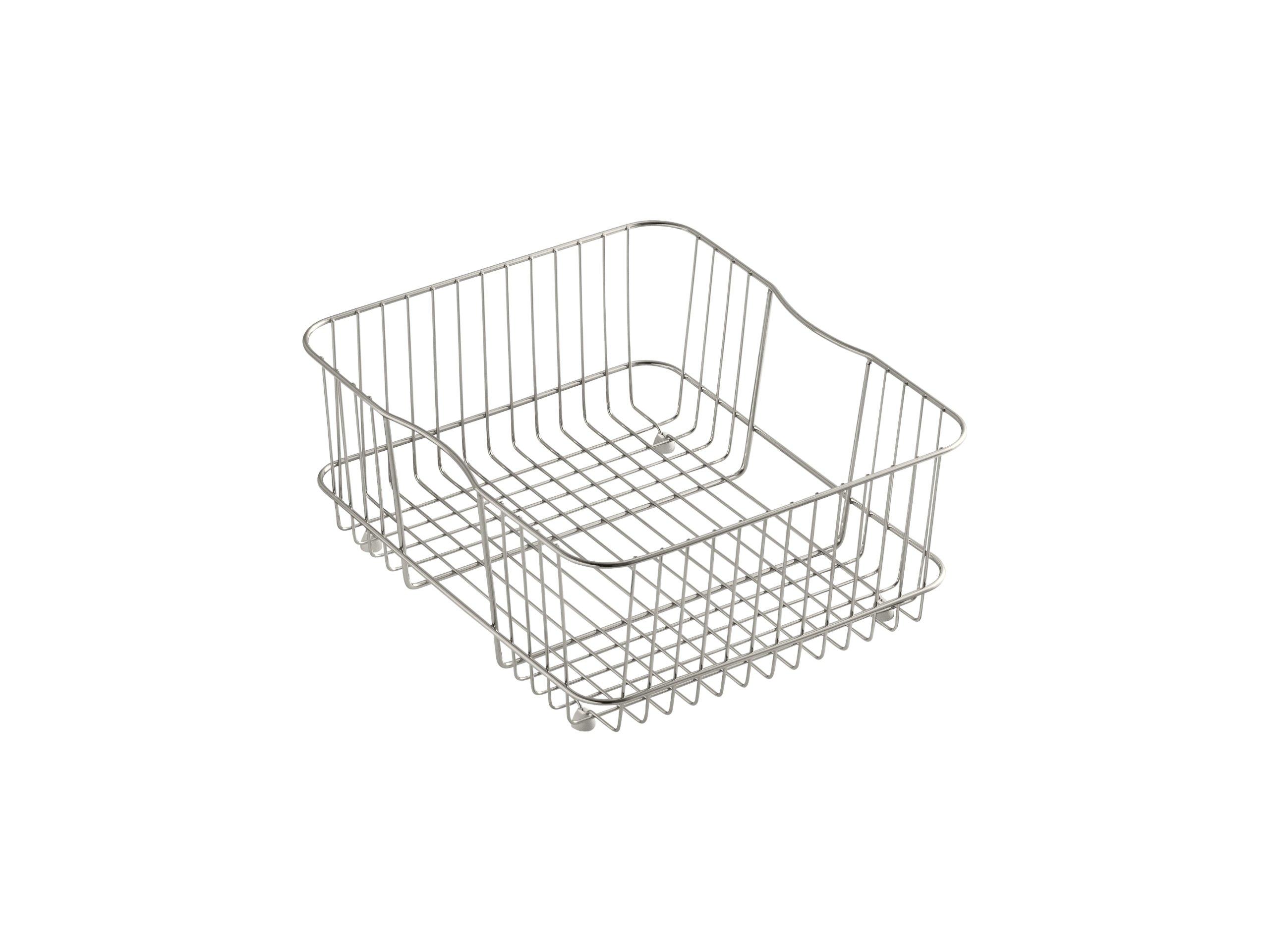 KOHLER K-3277-ST Coated Wire Rinse Basket, Stainless Steel by Kohler