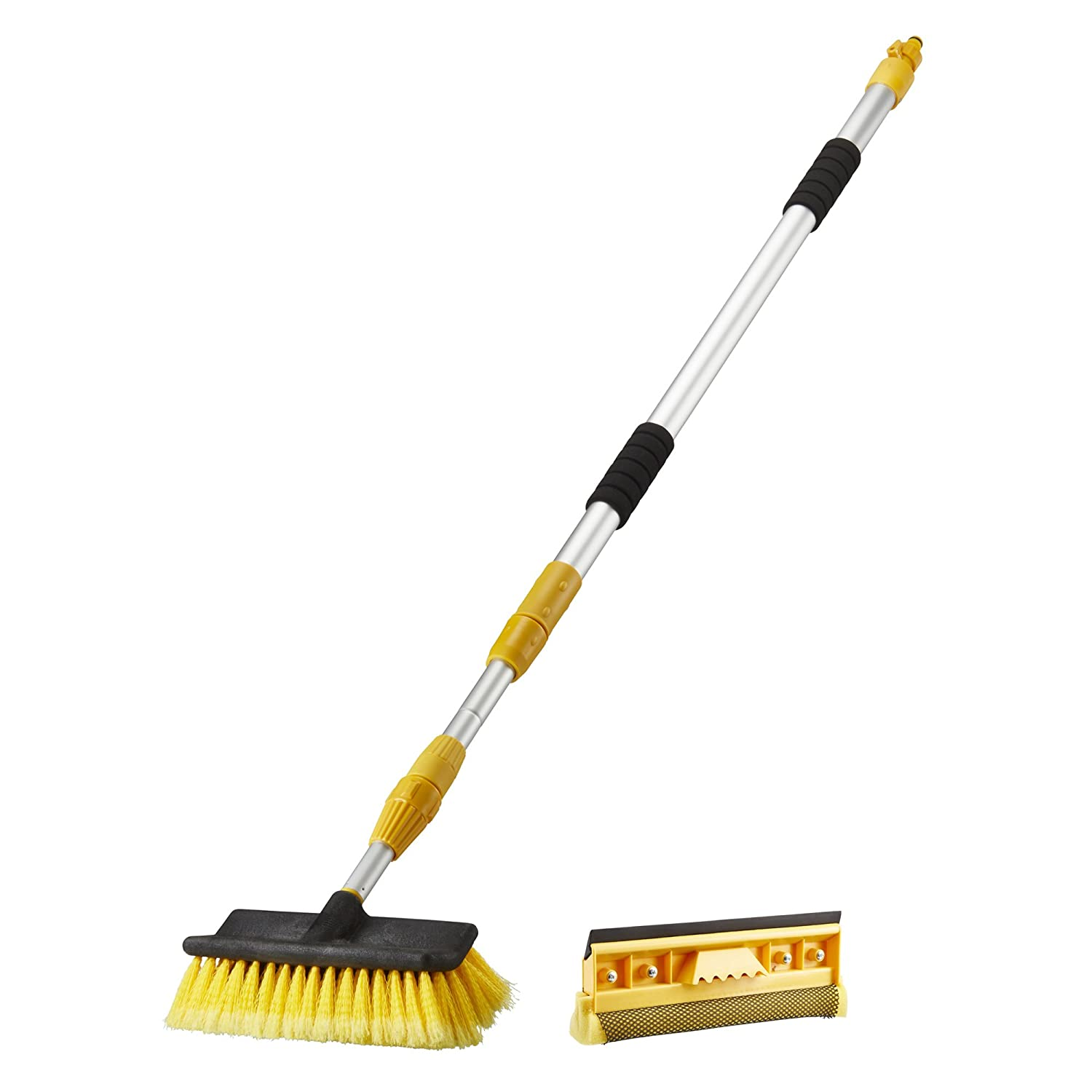 Easy Clean Telescopic Cleaning Hose Brush Set Extendable 2-in-1 with Window Cleaning Head Clifford James