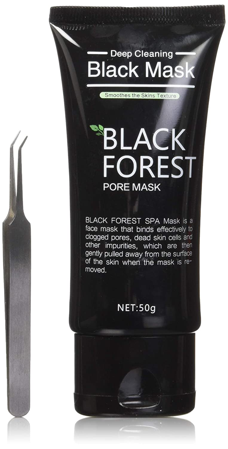 Black Forest Spa Blackhead Remover Mask, Blackhead Remover Tool Kit, Peel Off Mask, Activated Black Mask Blackhead Peel Off Remover Deep Skin Purifying Acne Mud Nose Face Mask