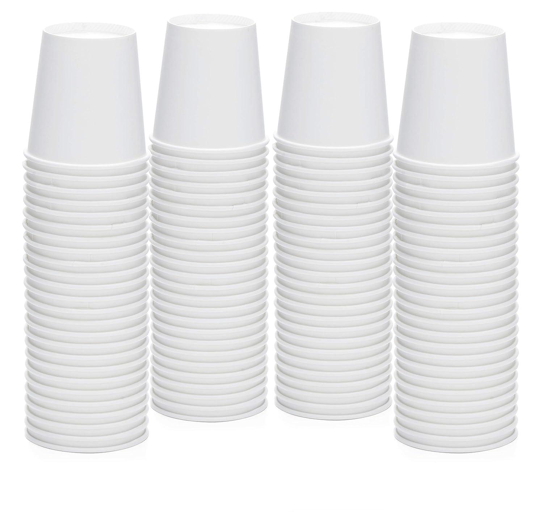 [200 Pack - 4 oz.] Espresso Paper Cups - Small Disposable White Paper Coffee Cups for Espresso, Macchiato, Cortado and More
