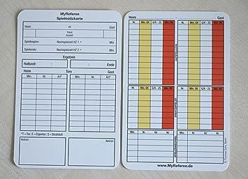 bfp - Lote de 100 tarjetas de notas para árbitro de fútbol ...