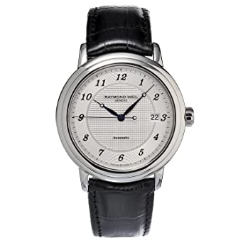 Amazon.com: Raymond Weil Maestro Automatic Silver Dial Mens Watch ...