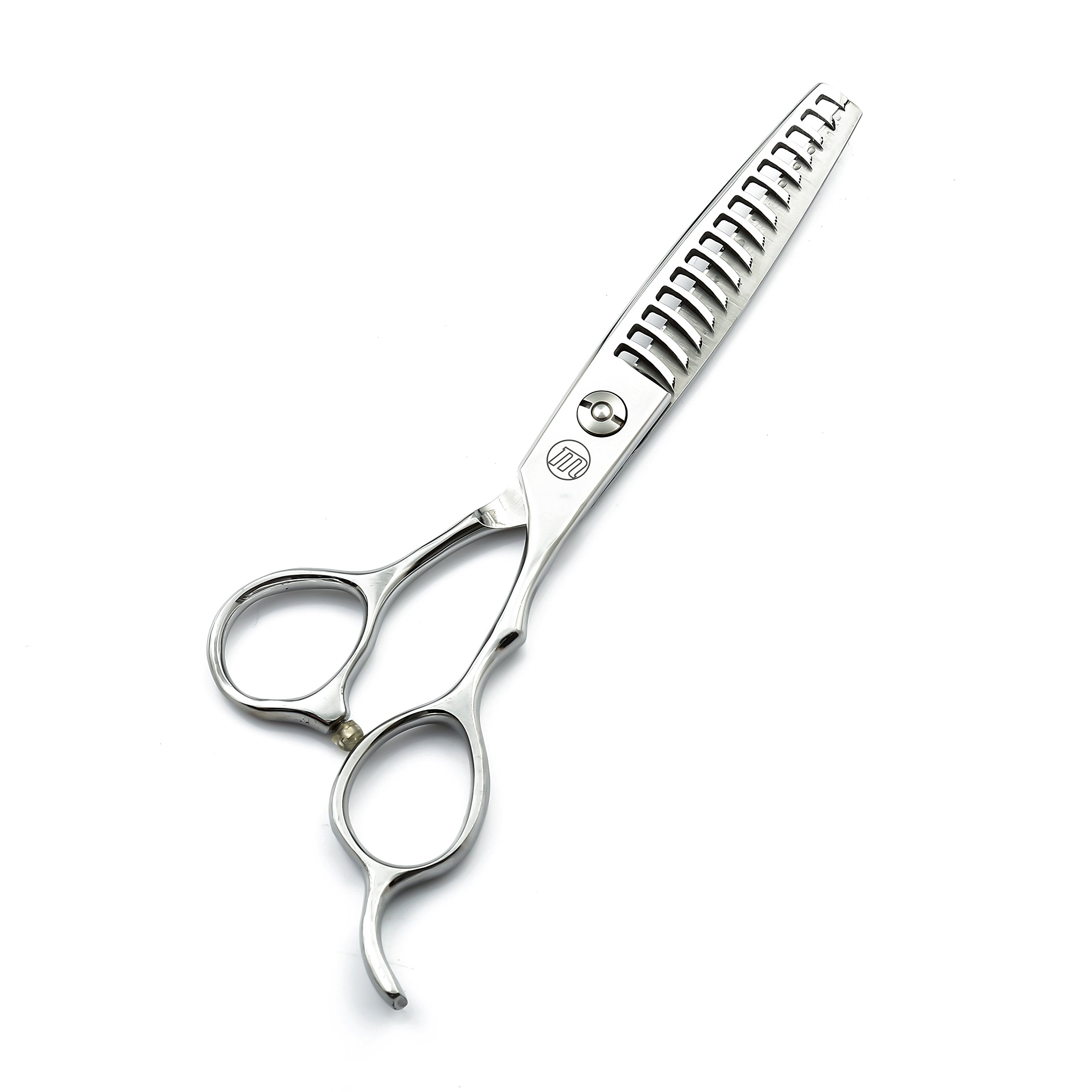 6.0'' Professional 15/30 Teeth Razor Edge Barber Scissor Hair Thinning/Texturizing Shear with Bag by Moontay (15 Teeth)
