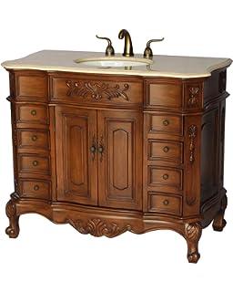 Amazoncom 50 Inch Antique Style Double Sink Bathroom Vanity Model