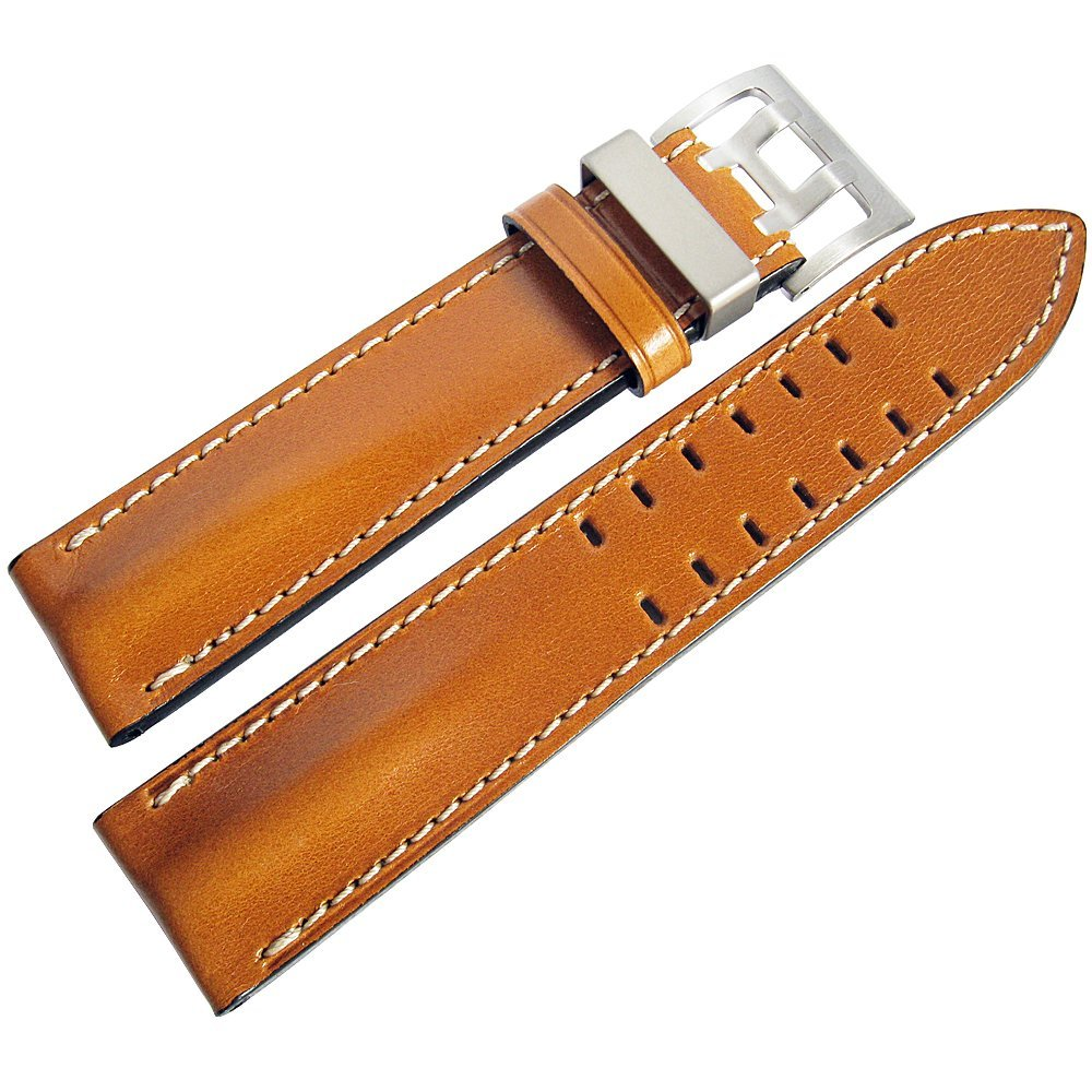 Di-Modell Offroad 22mm Tan Leather Watch Strap by Di-Modell