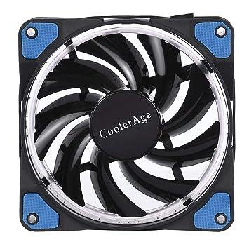 Color : Blue Blue External Cooling Fans Color LED 12cm 4pin Computer Components Chassis Fan Computer Host Cooling Fan Silent Fan Cooling with Blue Light Computers Accessories