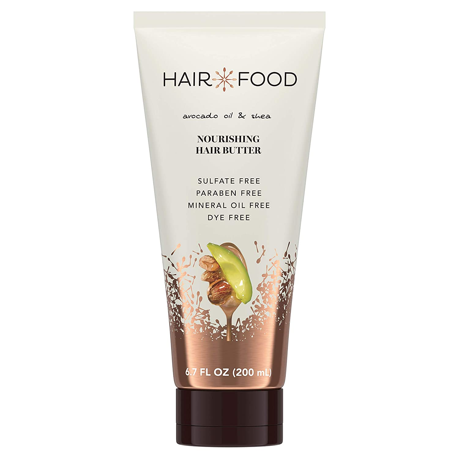 Hair Food Avocado Oil & Shea Butter Nourishing Hair Butter, Dye Free, 6.7 Fl Oz