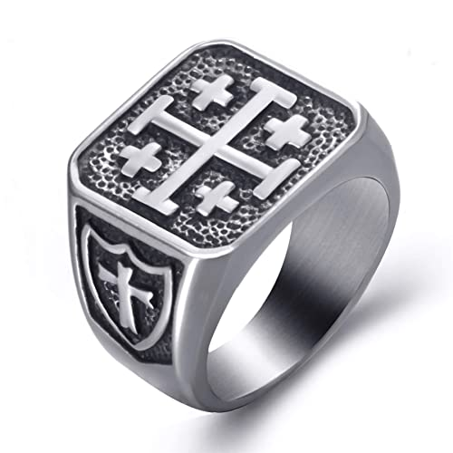 Amazon.com: Elfasio - Anillos de acero inoxidable para ...