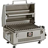 Solaire SOL-IR17BWR Portable Infrared Propane Gas Grill with Warming Rack, Stainless Steel