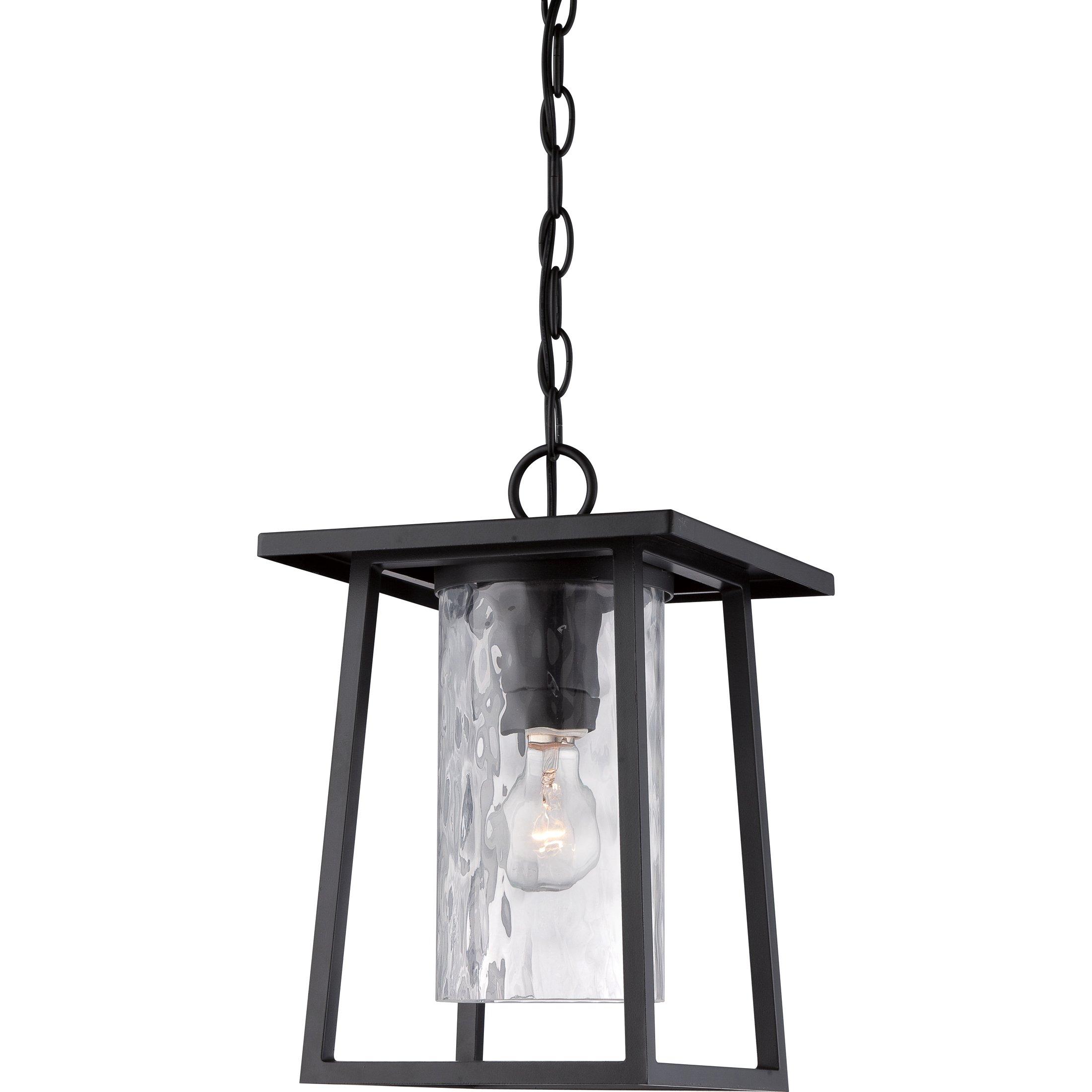 Quoizel LDG1909K 1-Light Lodge Outdoor Lantern in Mystic Black by Quoizel