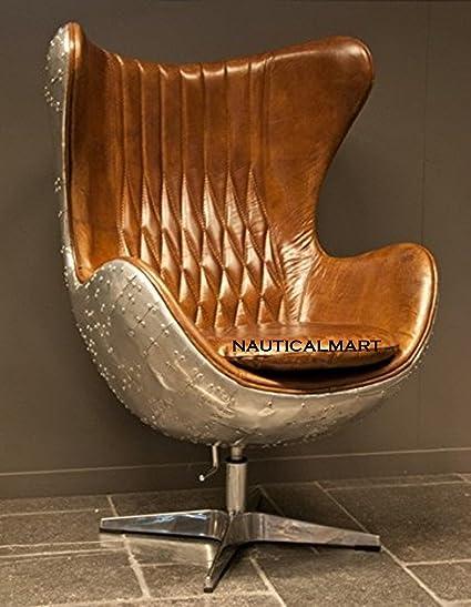 Outstanding Nauticalmart Spitfire Egg Swivel Chair Armchair Aluminum Squirreltailoven Fun Painted Chair Ideas Images Squirreltailovenorg