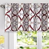 DriftAway Alexander Spiral Geo Trellis Pattern Window Curtain Valance Rod Pocket 52 Inch by 18 Inch Plus 2 Inch Header…