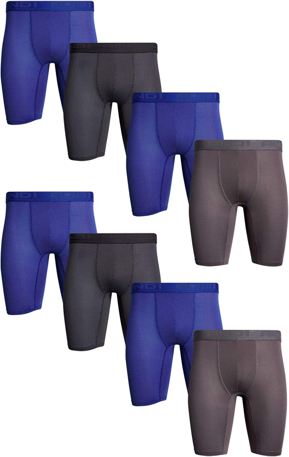 AND1 Mens High Performance Compression Boxer Briefs Underwear (8 Pack)
