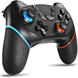 Switch Controller, Wireless Pro Controller for Switch Remote Gamepad with Joystick, Adjustable Turbo Vibration, Ergonomic Non