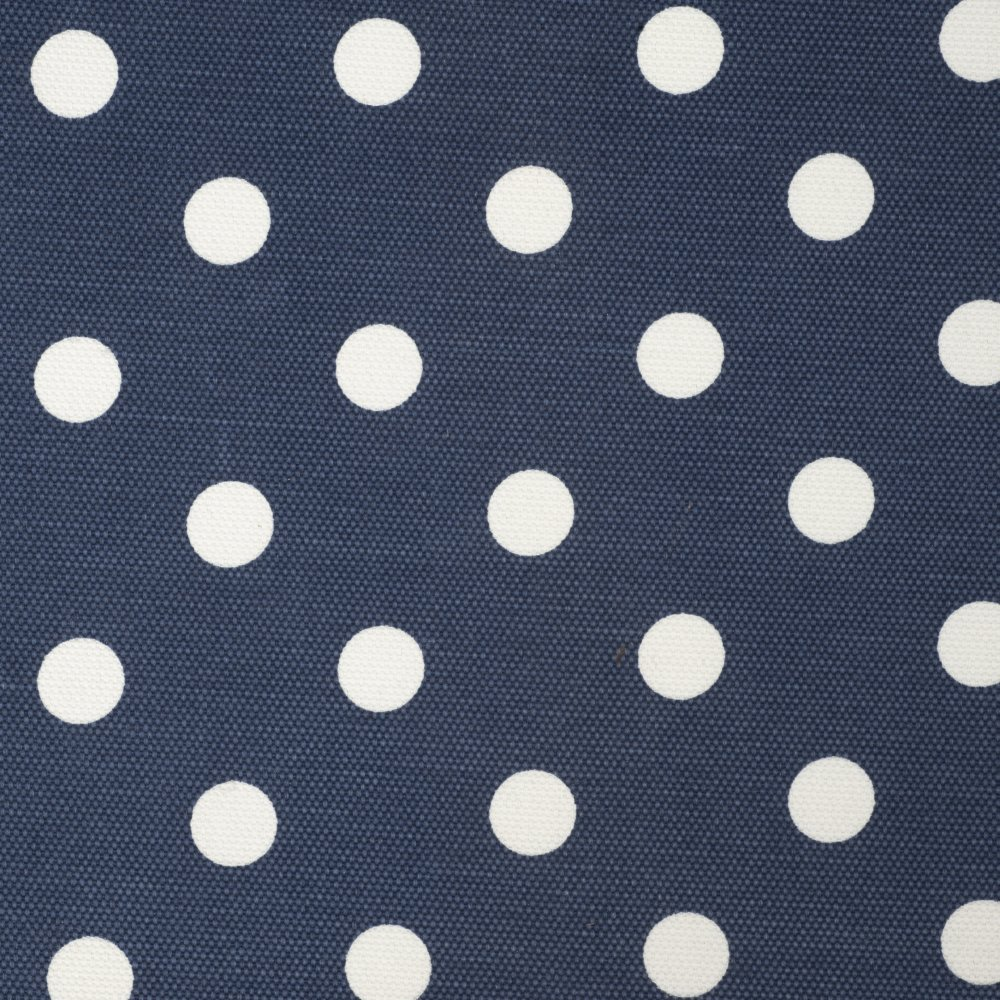 HobbyGift MRYH//32 White Polka Dot Print//Navy Yarn//Needle Holder//Bag 14x14x44cm