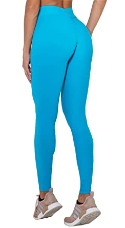 a9272037920f8 Canoan Brazilian Workout Legging - Scrunch Booty Lift! Compression Aqua Blue