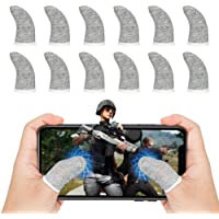 12Pcs Mobile Game Controller Finger Sleeves, Breathable Anti-Sweat Gaming Finger Cot for PUBG/Call of Duty Sensitive…