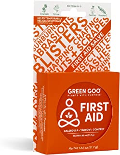 product image for Green Goo Natural Skin Care for Cracked Hands and Feet, White, First Aid, Large Tin, 1.82 Ounce