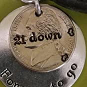 21 Down and Forever To Go for 21st Anniversary with Traditional Nickel 1998 Key Chain