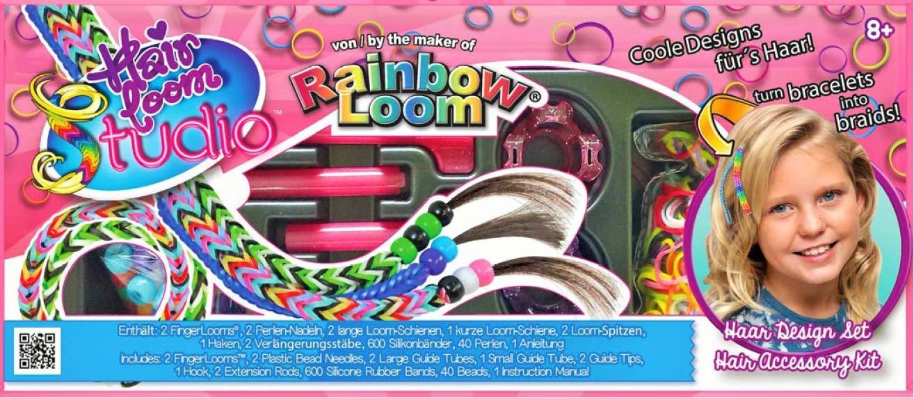 Rainbow Loom Hair Loom Double Toy, Pink, Small (R0054)