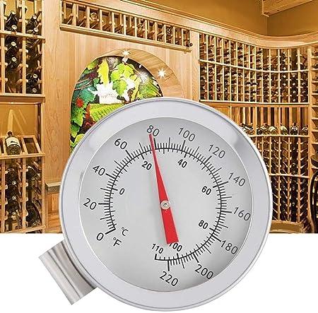 Cafopgrill 1 Unid. Caldera Termómetro para Vino Clip en el Termómetro de Dial Home Brew Wine Bierhermometer