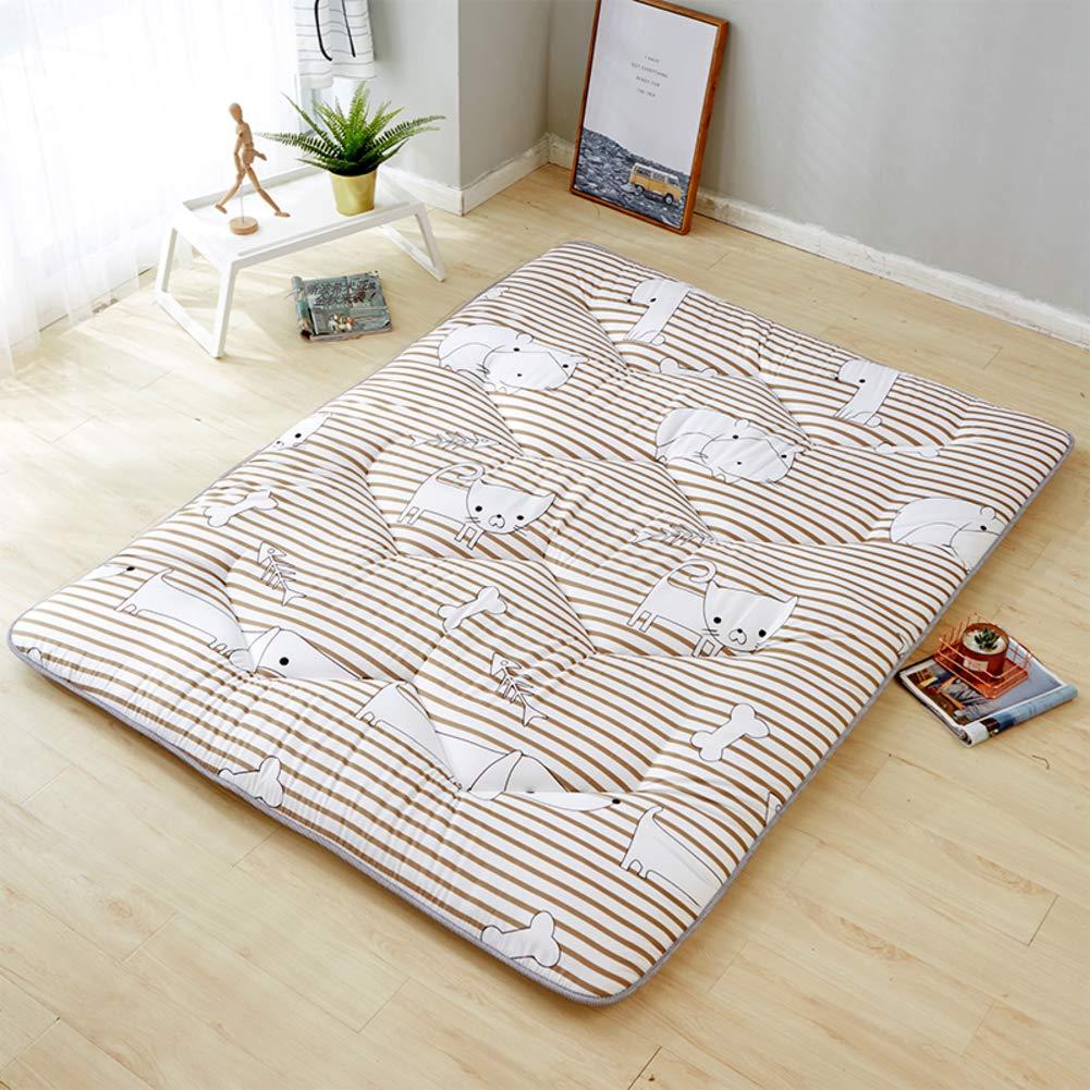 J 120x200cm(47x79inch) Thin Brushed Fabric Tatami Floor Mat, Breathable Mattress Mat Foldable Sleeping Pad Japanese Bed Roll Futon Mattress Topper-j 120x200cm(47x79inch)