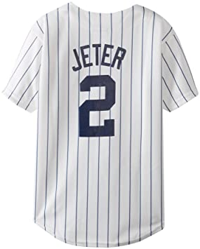 Majestic MLB New York Yankees Derek Jeter Home Replica Youth Jersey ... 9aa7ead13
