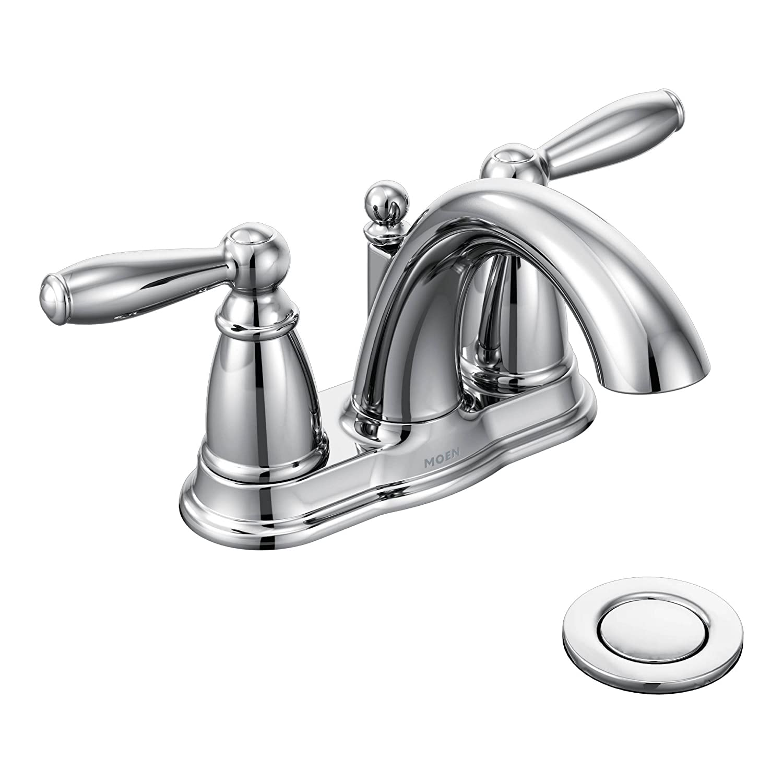 moen 6610 brantford two handle low arc centerset bathroom faucet rh amazon com