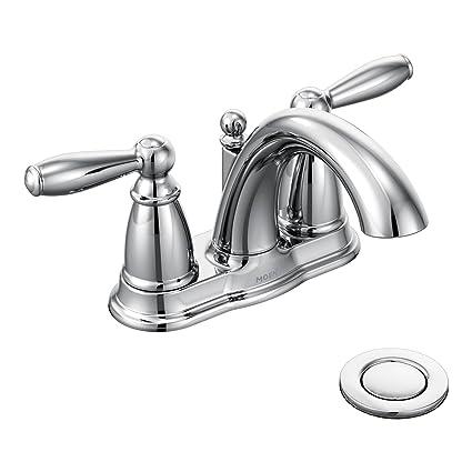 Moen 6610 Brantford Two Handle Low Arc Centerset Bathroom Faucet
