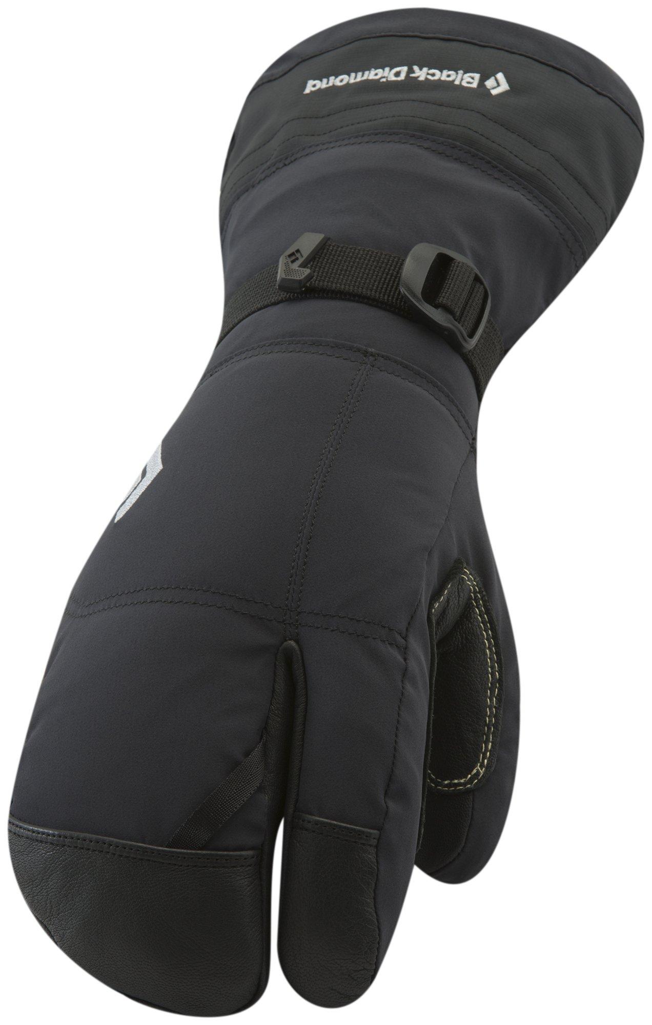 Black Diamond Soloist Finger Cold Weather Gloves, Black, Medium
