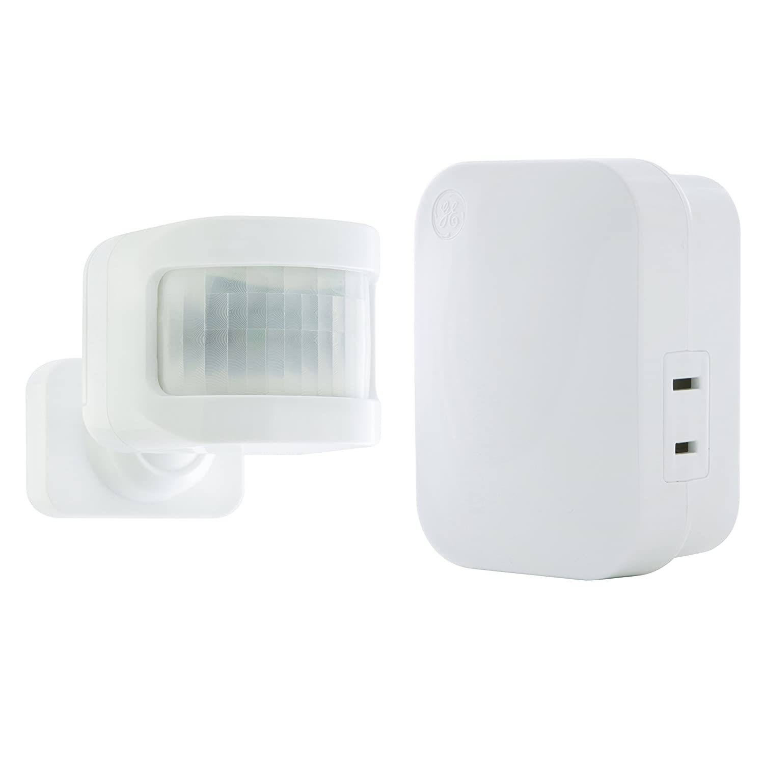 GE mySelectSmart Wireless Light Control Motion Sensor, On/Off, 1 Outlet, 150 ft. Range from Plug-In Receiver, Ideal for Lamps and Indoor Lighting, No Wiring Needed, Motion-Activated, Mountable, 36235