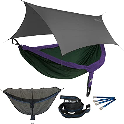 ENO Eagles Nest Outfitters Portable Hammock for Two DoubleNest Hammock Forest//Charcoal