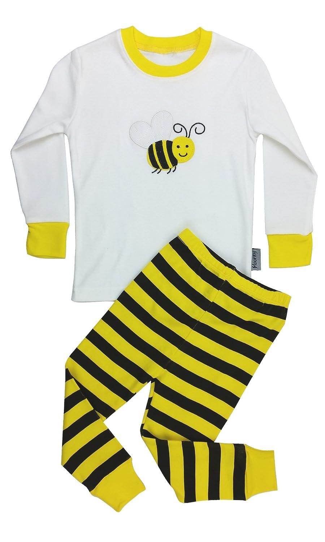Floorey Pyjamas Bumble Bee 2 Pieces Pajamas set 100% Cotton (All sizes)
