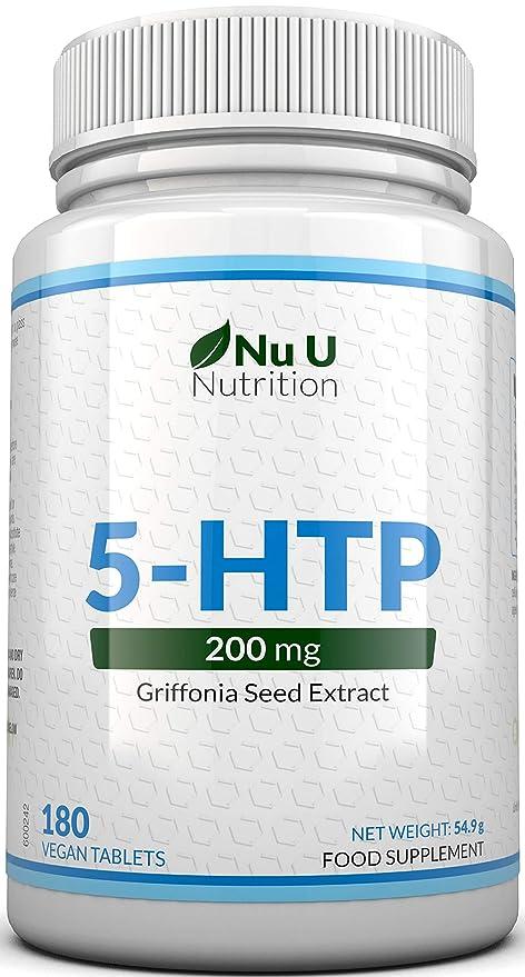 5-HTP 200 mg   Doble Potencia   180 Comprimidos (Suministro para 6 ...