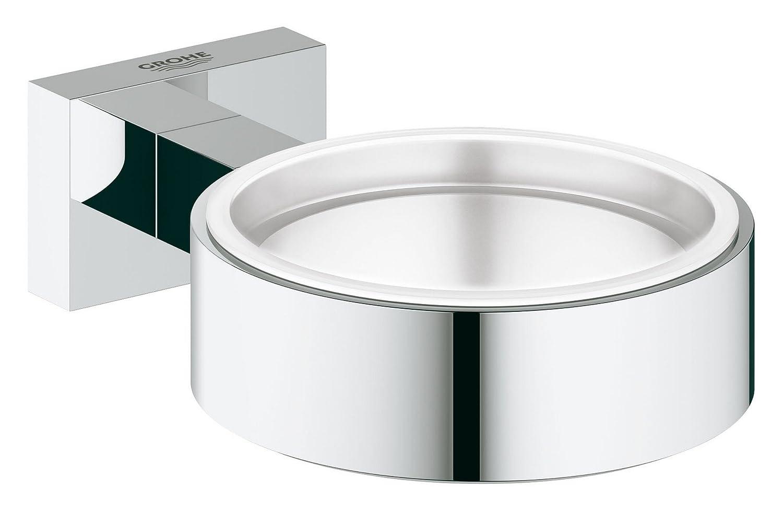 40369001 /& Essentials Badaccessoires Seifenschale chrom Grohe Essentials Halter Glas Seifenschale 40368001