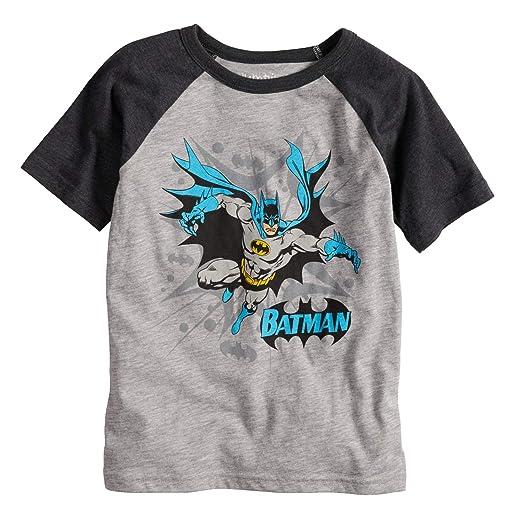 a880424feca Amazon.com  Jumping Beans Boys 4-10 DC Comics Batman Blast Raglan Graphic  Tee  Clothing