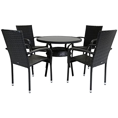 Fabulous Charles Bentley 4 Seater Amalfi Rattan Dining Set Outdoor Ibusinesslaw Wood Chair Design Ideas Ibusinesslaworg